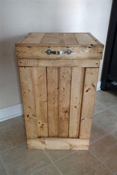 wood garbage   gallon trash  wood