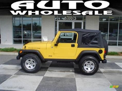 yellow jeep interior 2004 solar yellow jeep wrangler rubicon 4x4 17965673