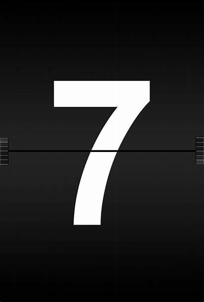 Number Seven Symbols Alphabet Font Station Text
