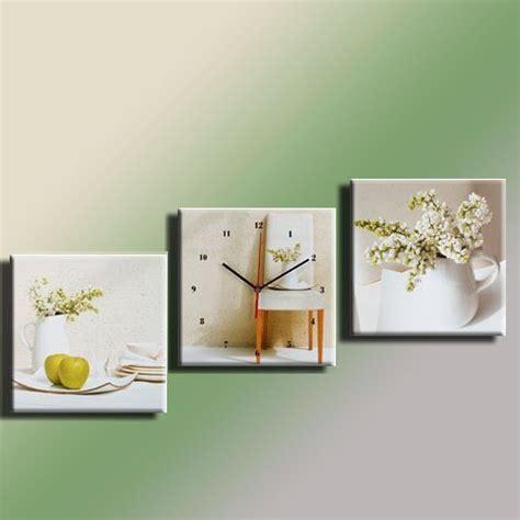 cadres tableau cadre pendule tryptique lilas blanc 30