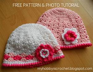 My Hobby Is Crochet  Spring Lacy Hat For Little Girls