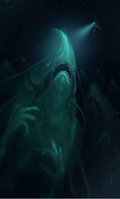 Sea Monsters Ocean Horror Creatures Underwater Mythical