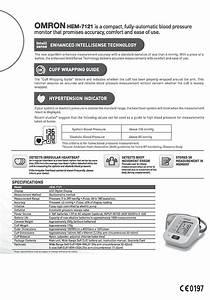 Omron Hem 7121 Fully Automatic Digital Blood Pressure