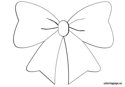 bow coloring coloring page