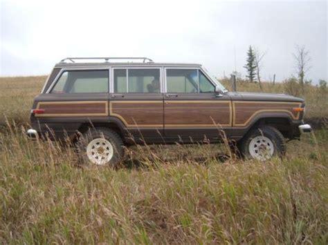 wagoneer jeep lifted buy used 1987 amc jeep grand wagoneer sj lifted 4 speed