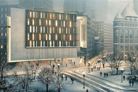 visualizing architecture post production snow scene