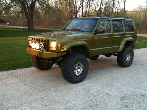 green jeep cherokee lifted 1998 jeep cherokee 8 500 or best offer 100308245
