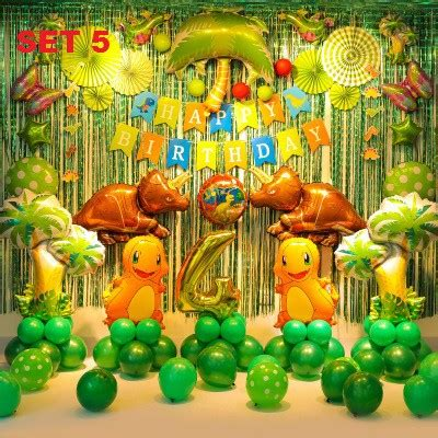 jurassic dinosaur theme birthday party decoration mega set