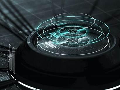 Ui Technology Dribbble Futuristic Interface Hologram 3d