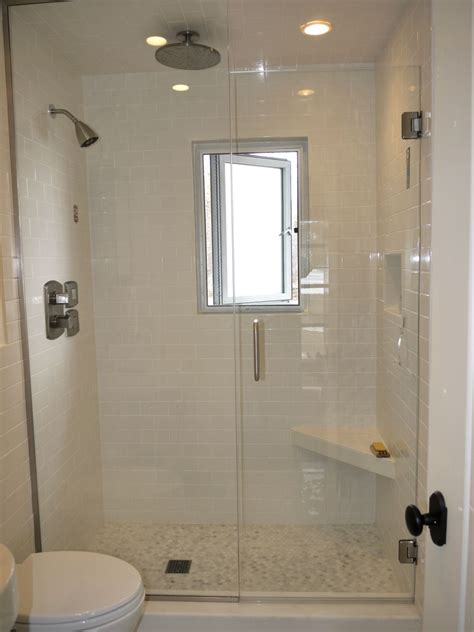 Walk In Shower For Small Bathroom by Small Walk In Shower With Window Small Grip Bar And Foot