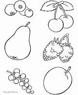 Coloring Fruit Pages Salad Colouring Sheets Vegetables sketch template