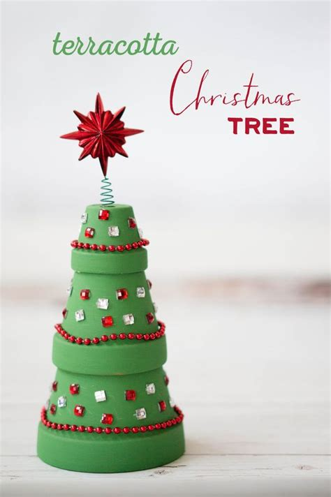terracotta christmas tree christmas trees crafts