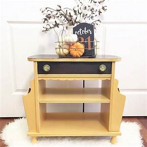 Apricot Chalk Style Paint Magazine Table General