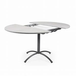 Table Ronde Moderne Pied Central Table Verre Et Bois