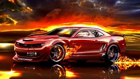 red chevrolet camaro fire wallpapers hd desktop
