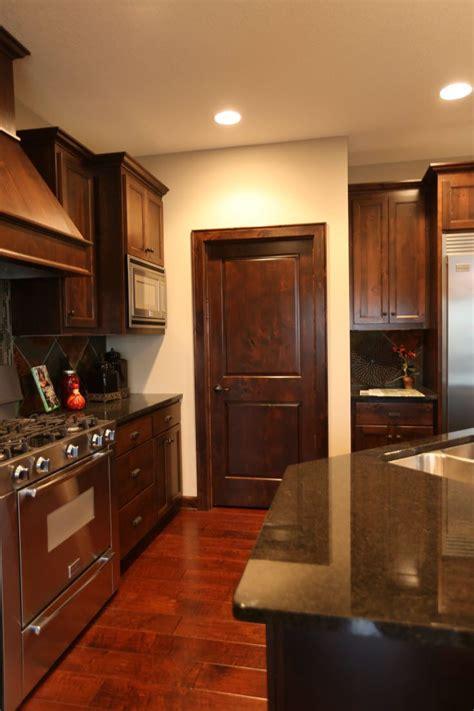 interior doors dark stained poplar kitchen