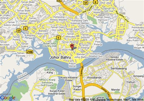 map   puteri pan pacific hotel johor bahru johor baharu