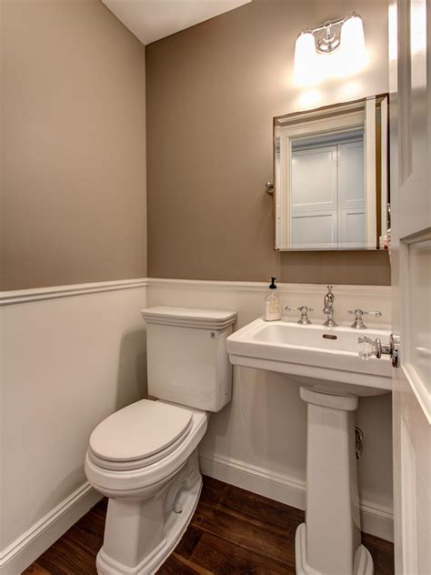 Bathroom Ideas Small Room by Small Traditional Powder Room With Wainscot Hgtv