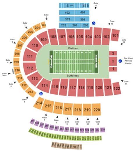 folsom field   boulder colorado folsom field seating charts   schedule