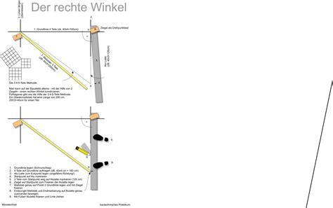 rechten winkel ausmessen bautechnik wikibooks sammlung freier lehr sach und fachb 252 cher