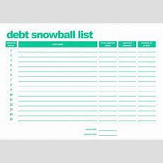 Printable Debt Snowball List Pdf