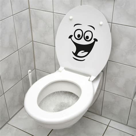 smiley face wc toilet fridge decal wall mural art