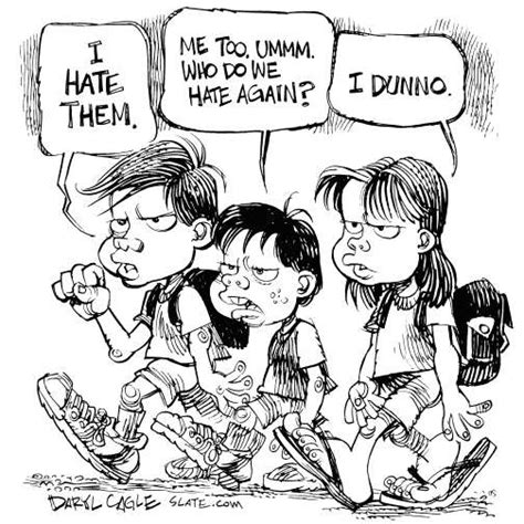 Editorial Cartoon Hate  Teaching Tolerance