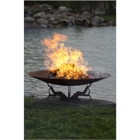 """Stone River® Steel 28"""" Big Game Fire Pit  Grill 225840"""