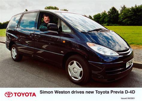 Toyota Weston by Simon Weston Drives New Toyota Previa D 4d Toyota Uk