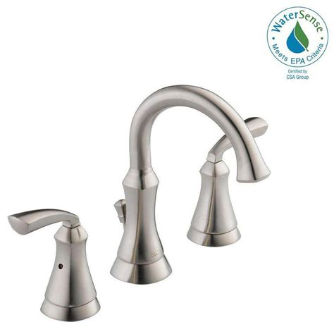 Faucet Depot by Delta Mandara 8 In Widespread 2 Handle Bathroom Faucet In