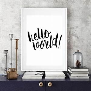 Hello World Nur... Nursery Canvas Quotes