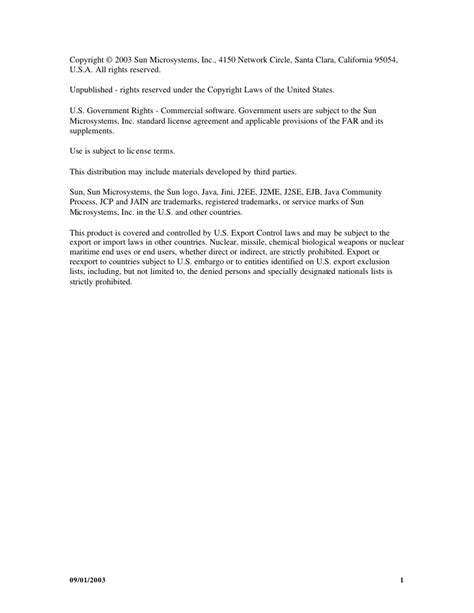Java Sip Specifications