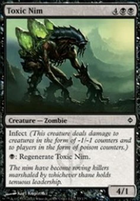 Mtg Infect Deck Tapped Out by Four Horsemen Of The Appocalypse Pestilence Modern Mtg Deck