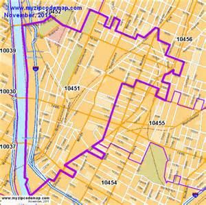 Bronx New York Zip Code Map