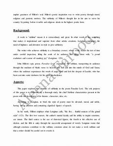 Perseverance Essay Paradise Lost Essay On Satanist How To Write A Persuasive Essay Sample Essay Myself also Essays On Mother Paradise Lost Essay Rain Water Harvesting Essay Paradise Lost Essay  Art Critique Essay