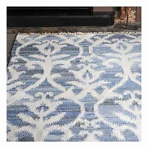 tapis kilim fait main vivian bleu the rug republic 160x230 With tapis kilim bleu