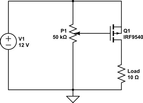 Power Supply Current Limiting Using Mosfet