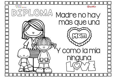 Diplomas para colorear del día de las madres. 10 de Mayo ...