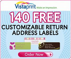 vistaprint 140 free address labels With cheap address stickers