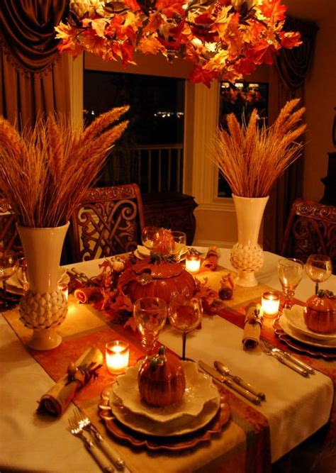 beautiful wheat centerpiece  pumpkin tureens