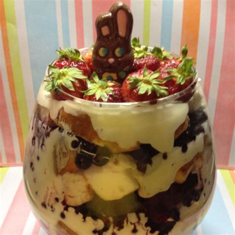 easter trifle recipes triple berry easter trifle recipe food easter