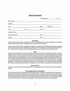 event contracts printable contracts With wedding planning contract templates free