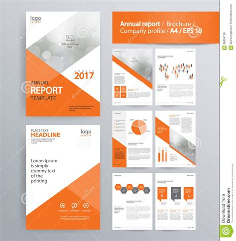 Company Profile Brochure Template Page Layout For Company Profile Annual Report And