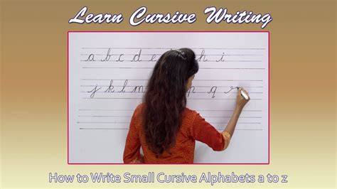 How To Write Cursive Step By Step  Writing Small Cursive Letters  Handwriting Practice 4k