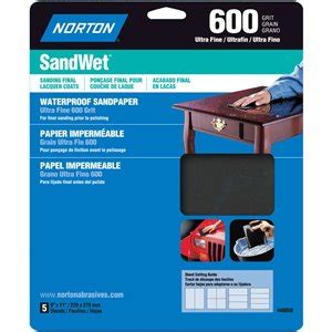 norton abrasives  grit sandwet waterproof sheet