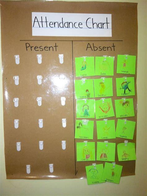 kindergarten attendance chart  morning  students