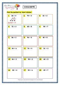 short division images maths homeschool
