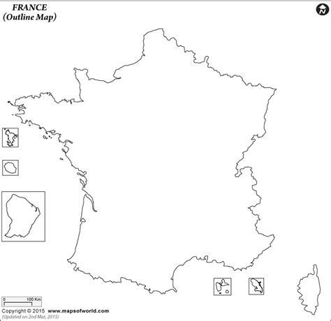 blank map  france france outline map