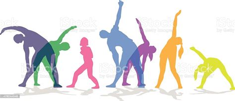 Exercise In Group Colored Stock Illustration - Download ...