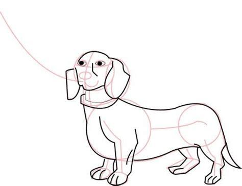draw barbie doll walking  daschund dog drawing